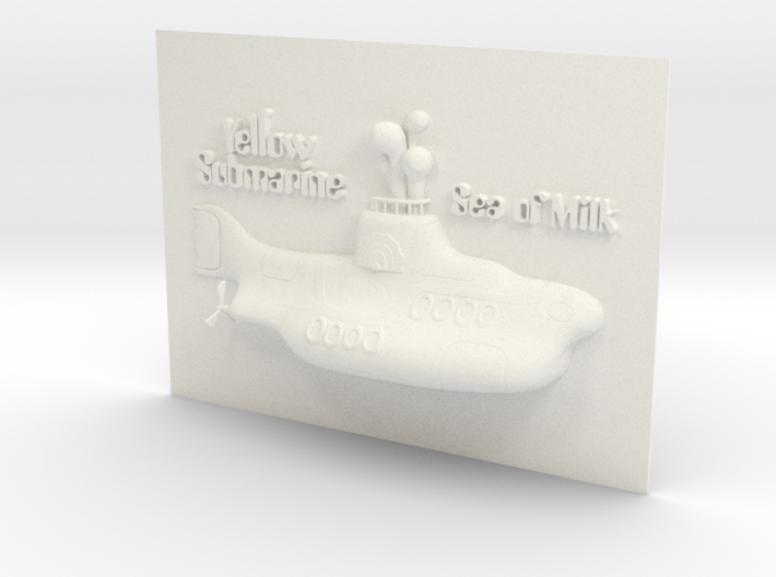 Yellow Submarin - The Sea Of Milk  3d printed