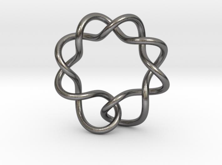 0352 Hyperbolic Knot K5.3 3d printed