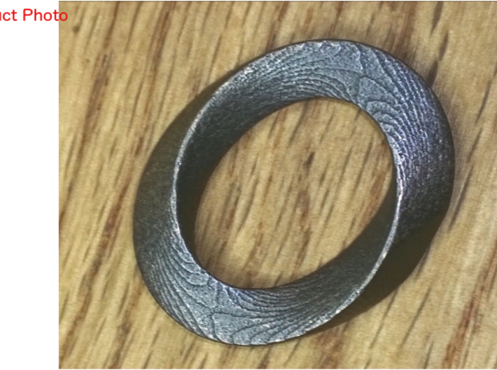 Mobius twisted ovoïde plat 3d printed