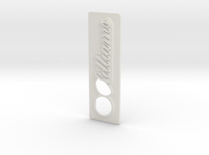 Villianns Edwardian Script font Coin Door Tag 3d printed