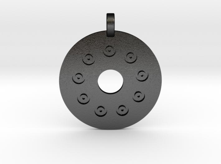 Flintblack Medallion 3d printed