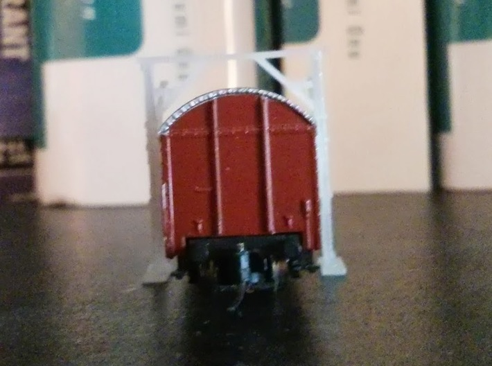 4x Z Scale Car Clearance Gauge 3d printed