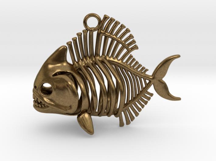 Piranha Pendant 3d printed