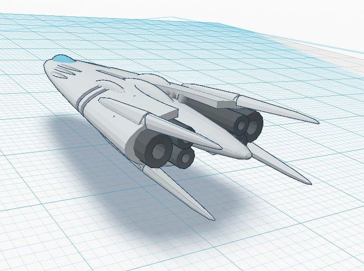 Slipstream IV-B 3d printed Oversized Tier 4 XIA spacecraft ( CONCEPT )