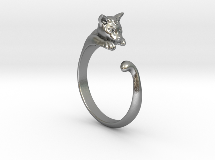 Cat Ring V1 - (Sizes 5 to 15 available) US Size 9 3d printed