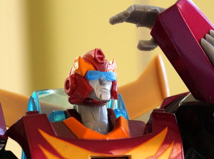 Hot-headed Recruit Head G1-style for Animated 3d printed