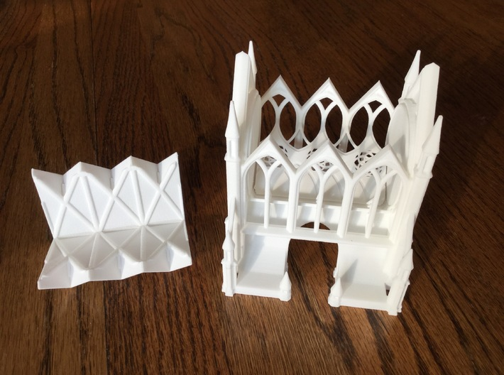 Gothic Cathedral Toothpick Dispenser 3d printed View with top off