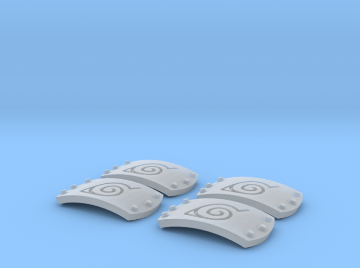 1:6 leaf symbol plates 3d printed