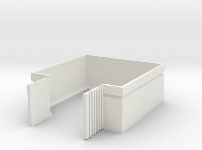 Trash Enclosure; Open Doors 3d printed