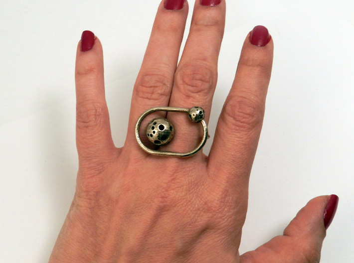 Moonball Orbit Ring 3d printed