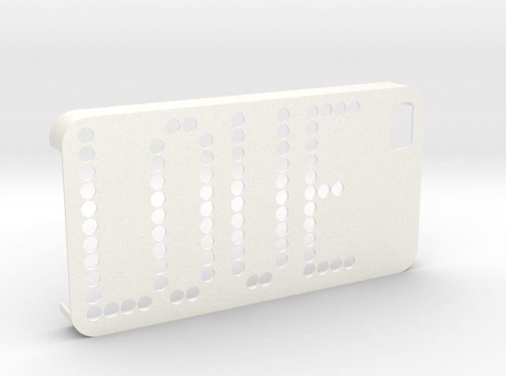 IPhone 4 4S Case Love Dots 3d printed