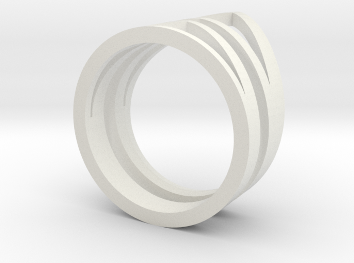 Ring3541 Geo Stack Size6 Van K Le Love And Keep 3d printed