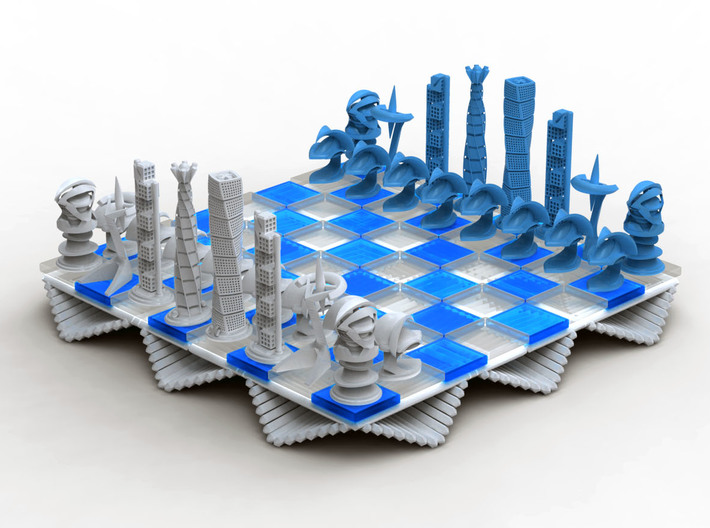 Chess Set Board White (PART 2) 3d printed Rendering