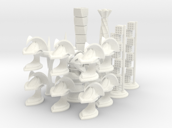 Chess Set Pieces White (PART 4) 3d printed