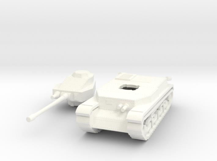 Hungarian Turan III Medium tank 1/100th 15mm 3d printed