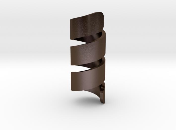 Hair/Beard Spiral Ring 3d printed