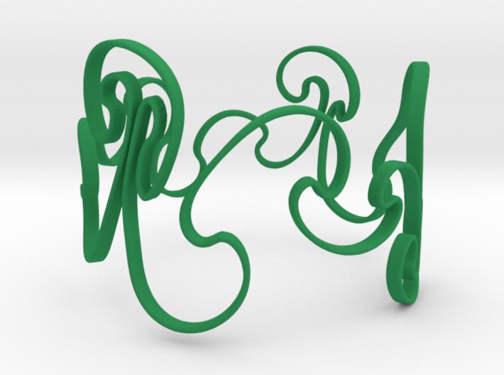 Rayleigh-Taylor Bracelet #1 - 6'' Wrist 3d printed