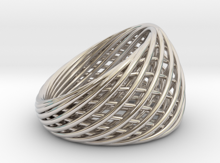 [Ring]Weave|Size6|16.5mm 3d printed