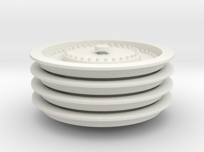 Wheelloader Rimcover 4 Piece Set 3d printed
