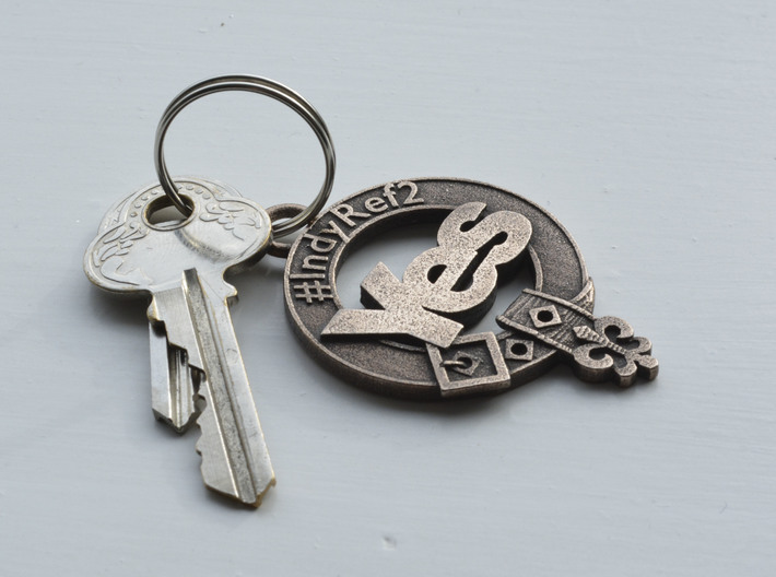 Clan Yes key fob 3d printed Lightly polished with Brasso wadding