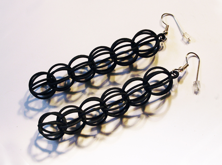 Sphere Earrings 3d printed black