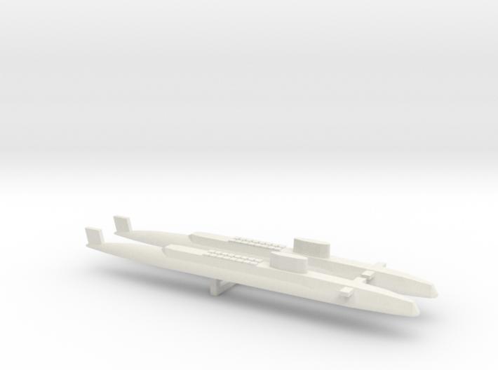 HMS Resolution SSBN x 2, 1/1800 3d printed