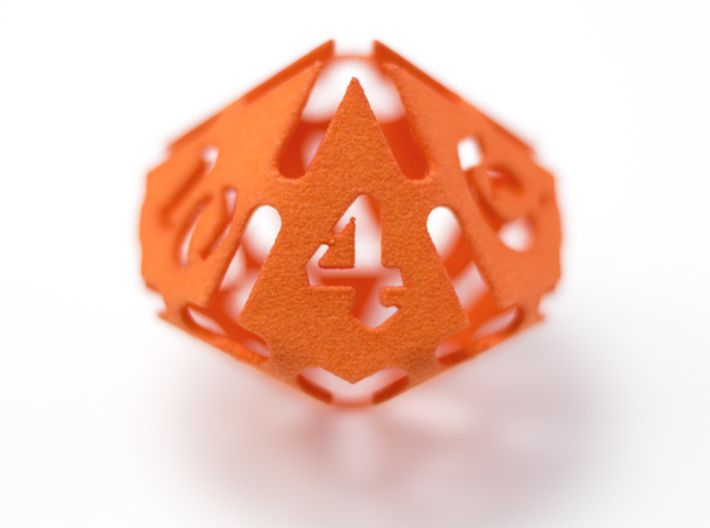 Big die 10 / d10 28mm / dice set 3d printed a big die 10