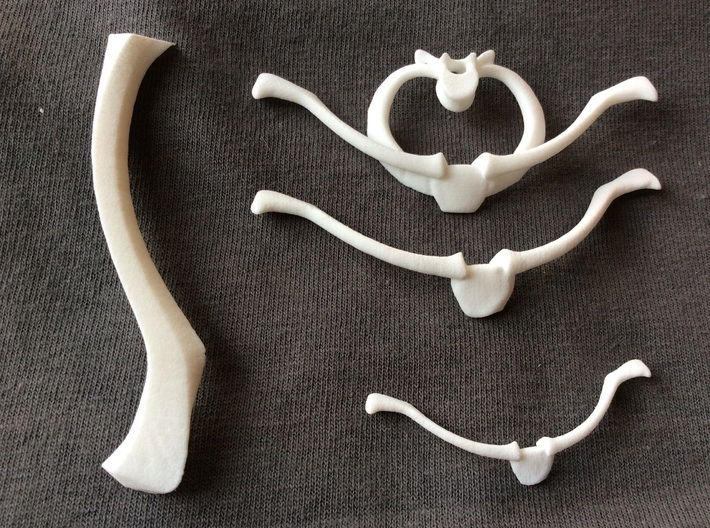 Bone House: Collar O - Large 3d printed Shown in top right. Other shoulder Houses, shown here. All sold separately.