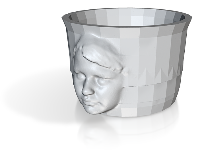 Cup with Face 1 3d printed