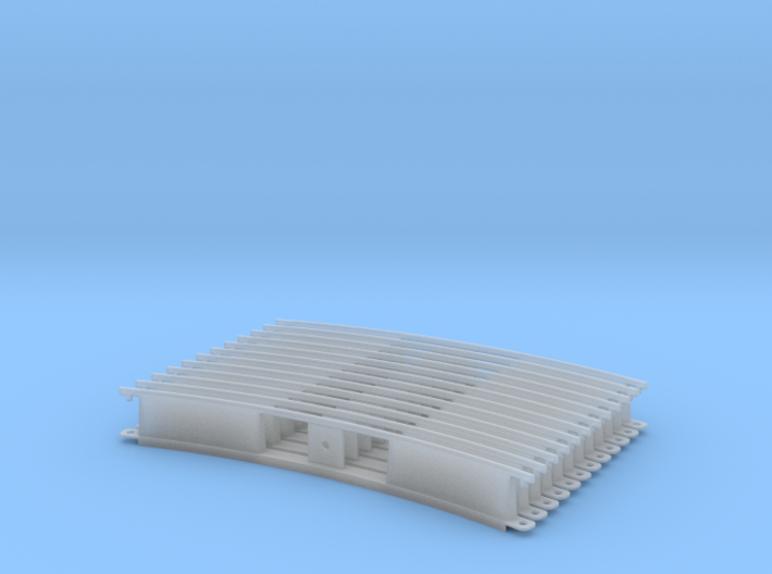 Monorail Curved Rail Gen 2 Set of 12 3d printed