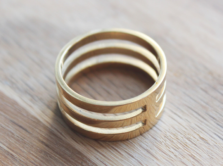 Amon - Size 10 3d printed Polished Brass