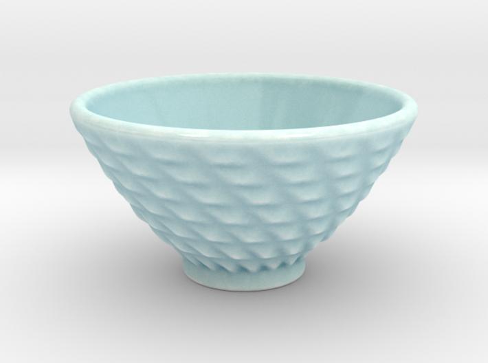 DRAW bowl - ceramic spiral bumps 3d printed