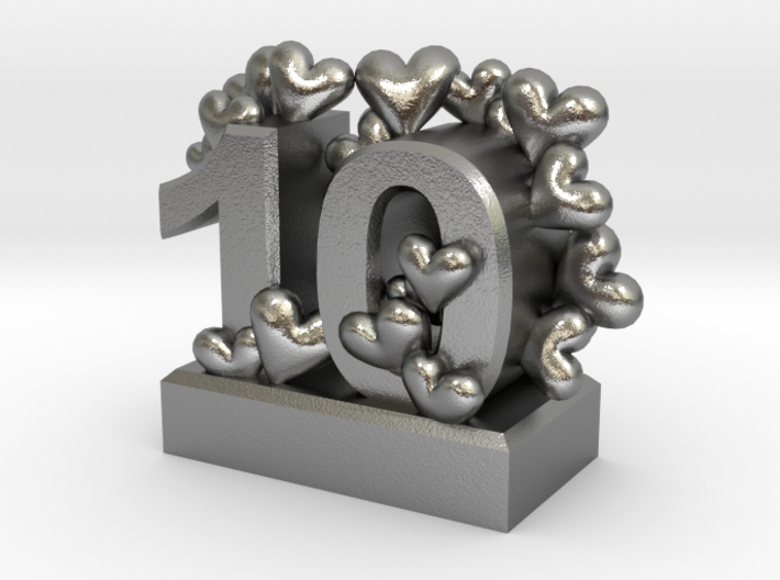 10th Anniversary Aluminum Gift 3d printed