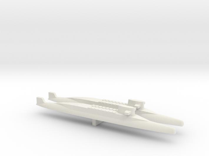 FS Redoutable-class SSBN x 2, 1/1800 3d printed
