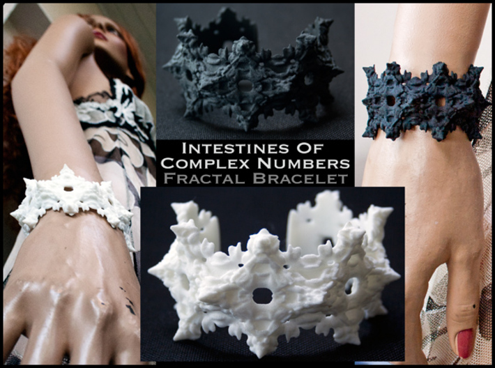 Intestines of Complex Numbers - Bracelet 3d printed Turning Mathematics Inside Out to make a affordable Bracelet full of awesomeness!