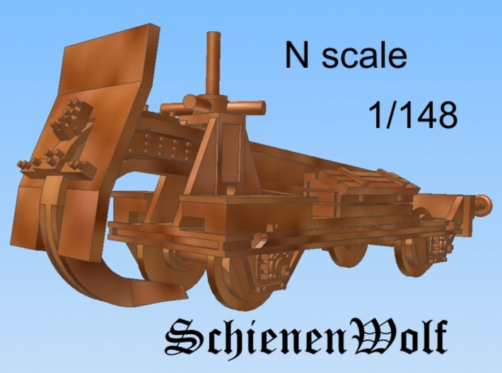 1-148 Schienenwolf RailRipper 3d printed