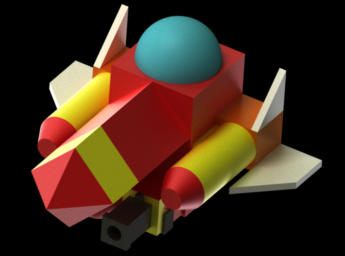 KH Gummi-Ship 3d printed Rendering