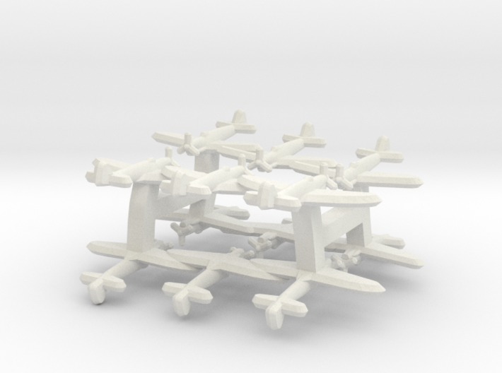 Fairey Firefly (Triplet) 1:900 x4 3d printed