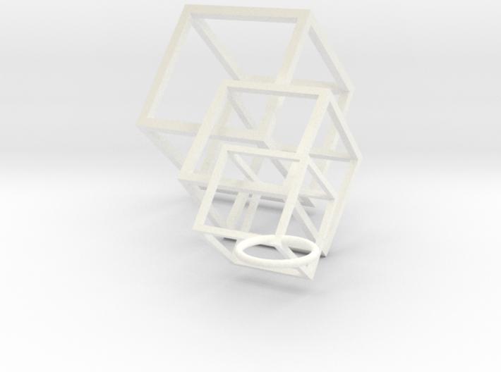 Cube-n-Cube Earrings 3d printed