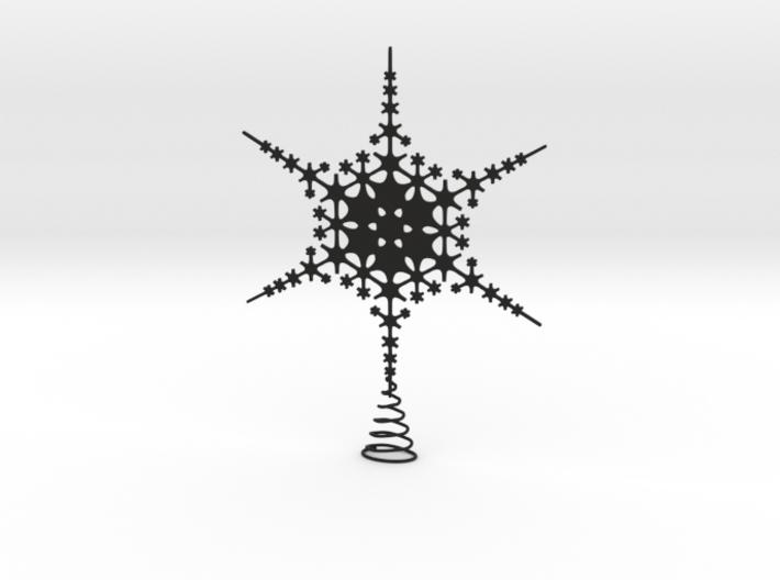 Sparkle Snow Star - Fractal Tree Top - MP2 - M 3d printed