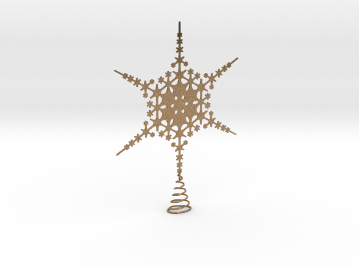 Sparkle Snow Star - Fractal Tree Top - HP0 - S 3d printed