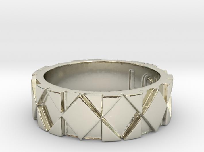 Futuristic Rhombus Ring Size 6 3d printed