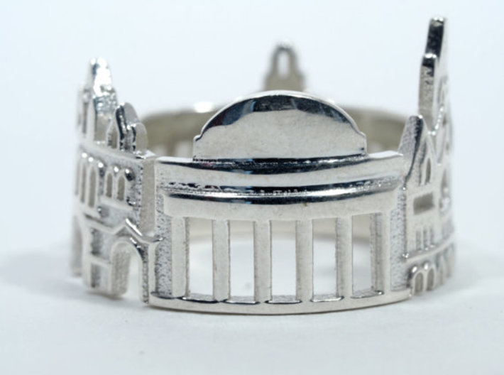 Boston Ring - Cheerleading Ring Gift 3d printed Classic White Sterling Silver