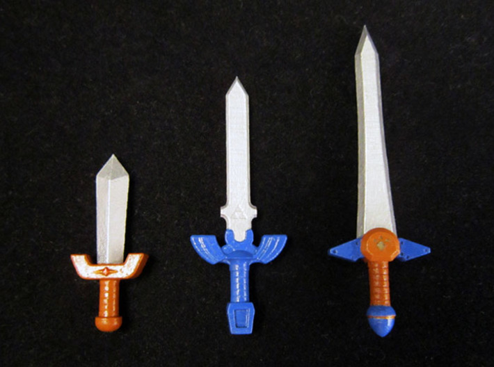 Time Sword Pack 3d printed Painted Frosted Ultra Detail
