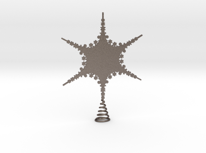 Sparkle Snow Star 2 - Tree Top Fractal - M 3d printed