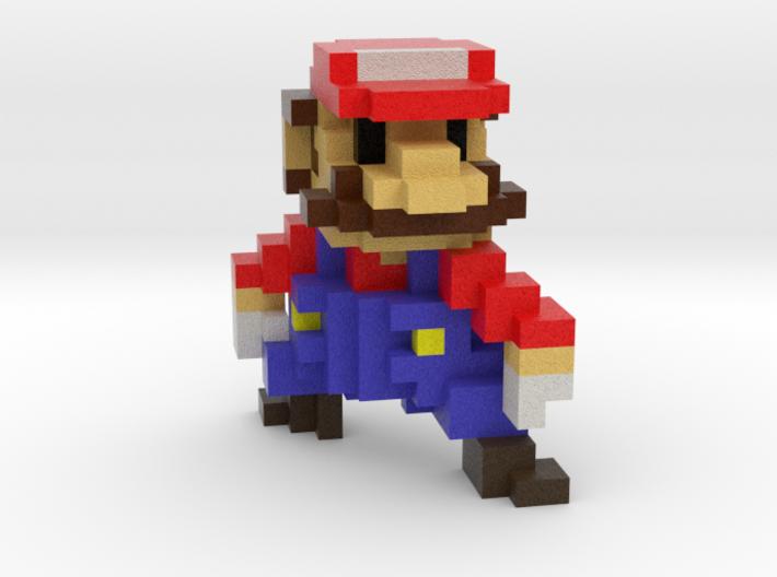 Super Voxel Mario 3d printed