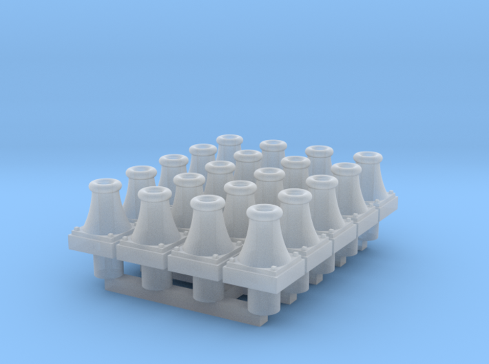 Cambrian wagon-buffers (padded) x20 3d printed