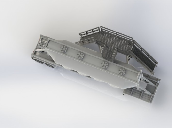 HO 1/87 Loading Platform for depot/industry 3d printed A top-down view showing the tread pattern on the platform.