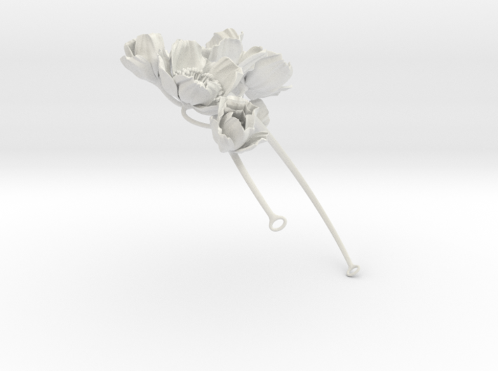 Icelandic Poppy Crown 3d printed