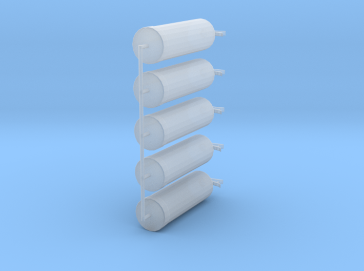 1/64 Water Extinguisher set of 5 3d printed
